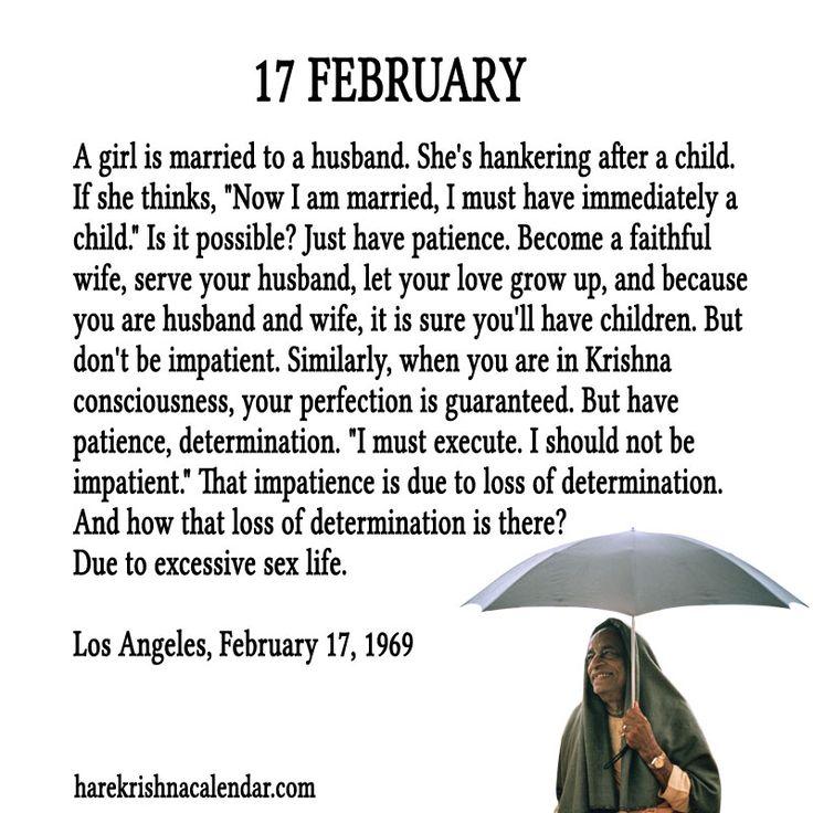 Srila Prabhupada Quote for 17 Feb 2014