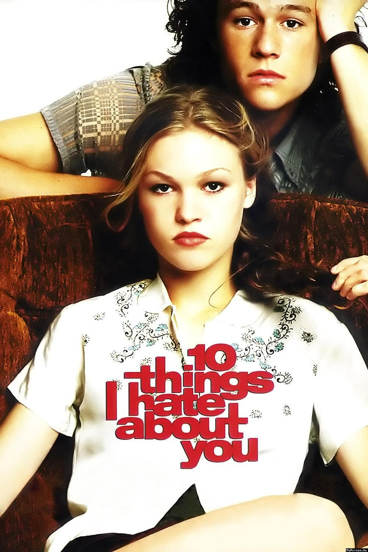 10 Things I Hate About You - i loved this moving, remake of taming of the shrew. it was so cute and adorable. My fav scene was when she got up on the tables and started dancing. I also loved the soundtrack, I want you to want me, by letters from cleo