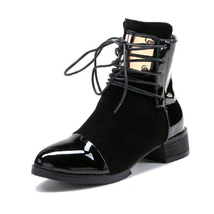 Женские осенние ботинки из натуральной кожи на небольшом каблуке, размеры 35-43 #shoes, #jewelry, #women, #men, #hats