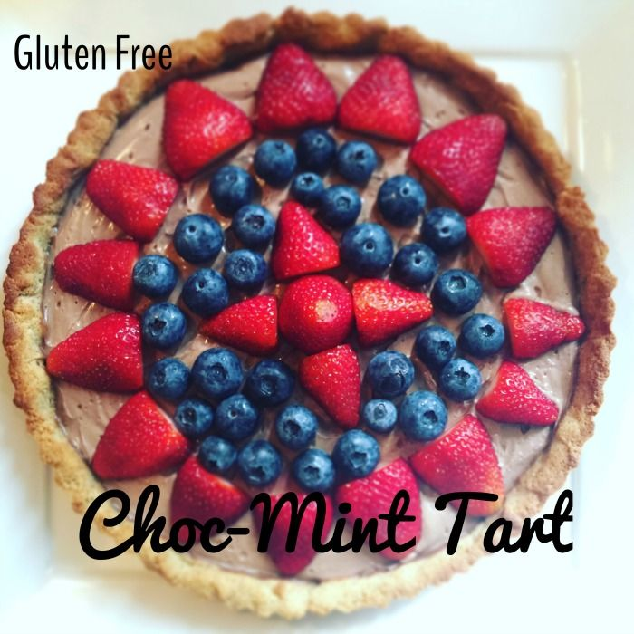 Gluten Free choc mint custard tart (sugar free too!) with health and wellness blog Loulou Zoo