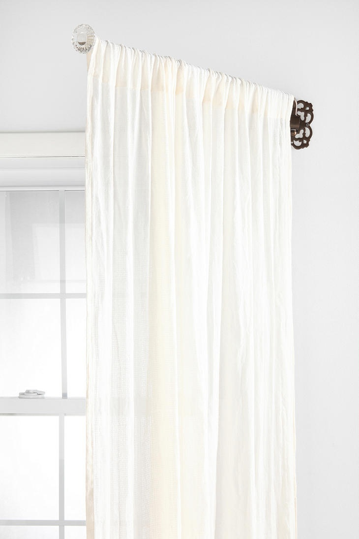 Diy copper curtain rods that wont break the bank diy how to window - Glass Knob Ornate Swing Curtain Rod Online Only 29 00