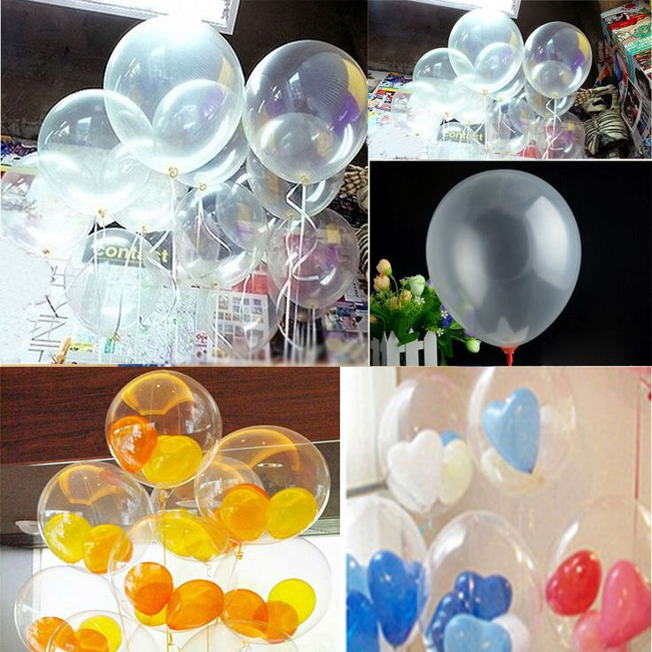 "New Quality Pearl 10pcs Transparent Latex Balloons Bridal Birthday Wedding Party Decor 10"" 1 set DIY #Affiliate"