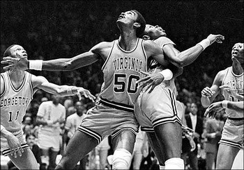 Ralph Sampson and Patrick Ewing