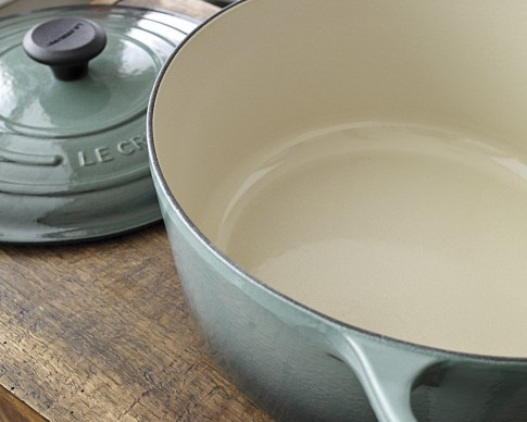 A classic, have-it-forever sauté pan, updated in pretty pale turquoise