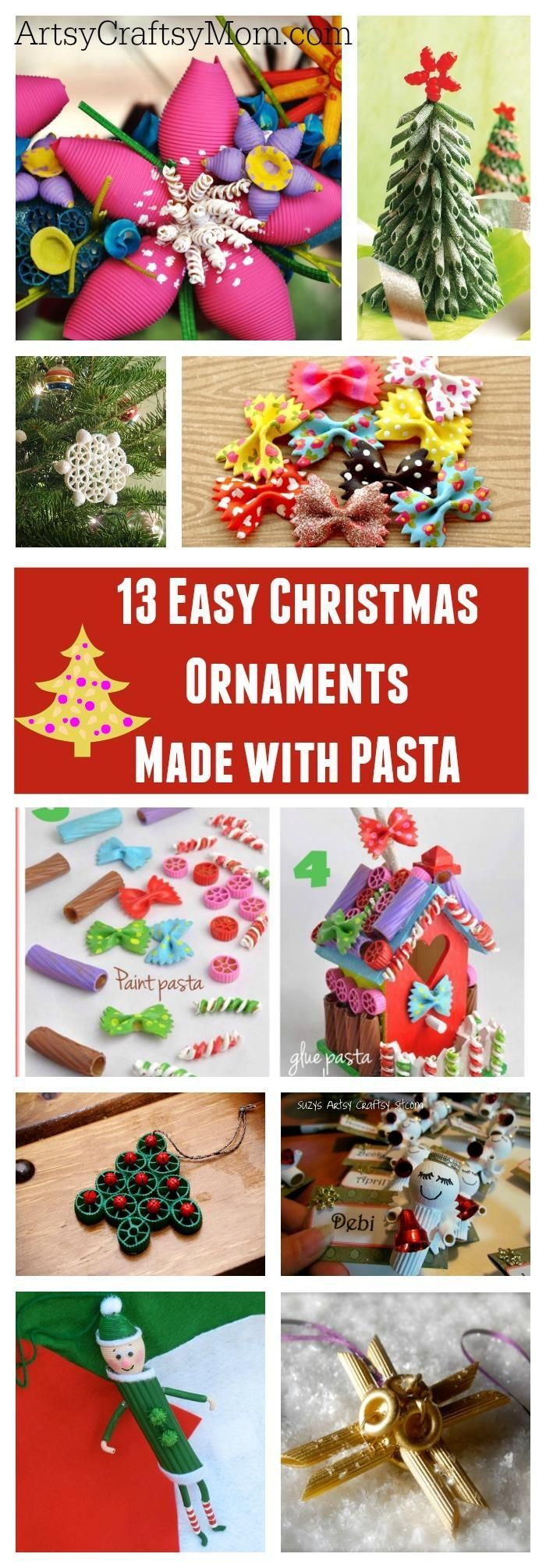 Easy christmas ornaments for kids to make - 13 Easy Christmas Ornaments For Kids To Make With Pasta