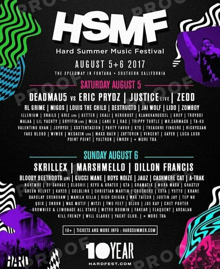 Hard Summer Music Festival 217 line up