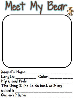 Meet My Bear.pdf  A CLASS BOOK TO GO WITH OUR TEDDY BEAR PICNIC ACTIVITIES IN THE SPRING