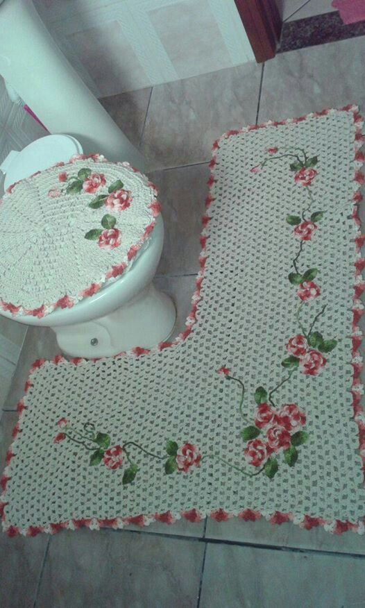 68 best images about sp cial salle de bain crochet on pinterest toilets old fat and artesanato. Black Bedroom Furniture Sets. Home Design Ideas
