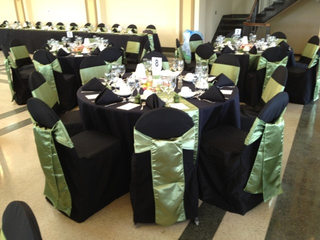 93 best green weddings images on pinterest decor wedding apple green wedding chair sashes on black chair covers junglespirit Image collections