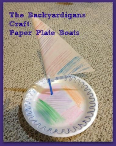 Backyardigans craft- how to make a boat from a paper plate!