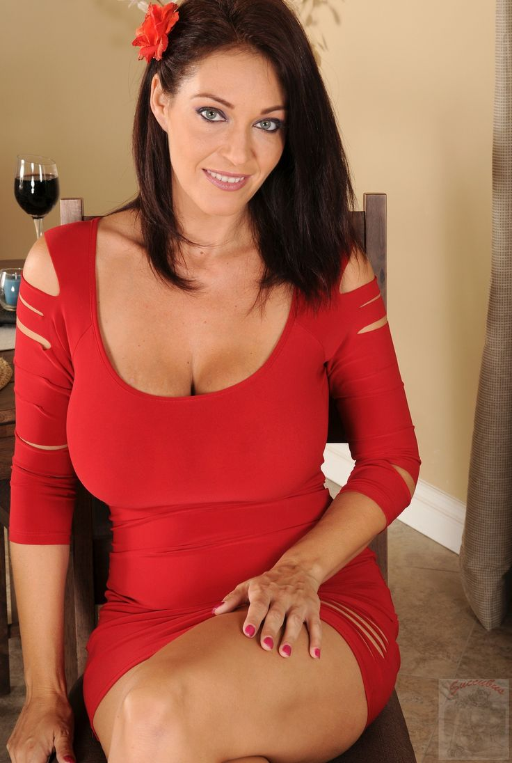 Milf red dress