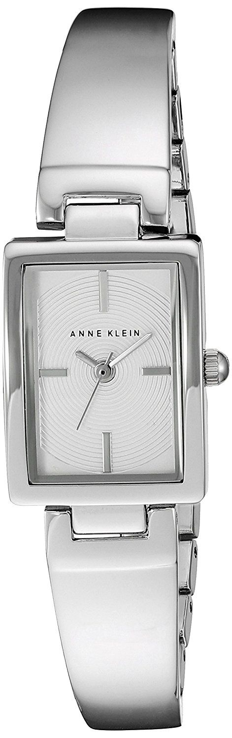 Anne Klein Women's AK/2465SVSV Silver-Tone Bangle Watch -- Details can be found by clicking on the image.