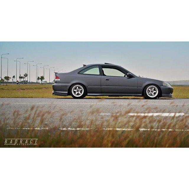 99-00 Honda Civic Coupe EM1 via @nuiibarday on Instagram - #badrace #em1 #ek #si #coupe #usdm #clubsithailand