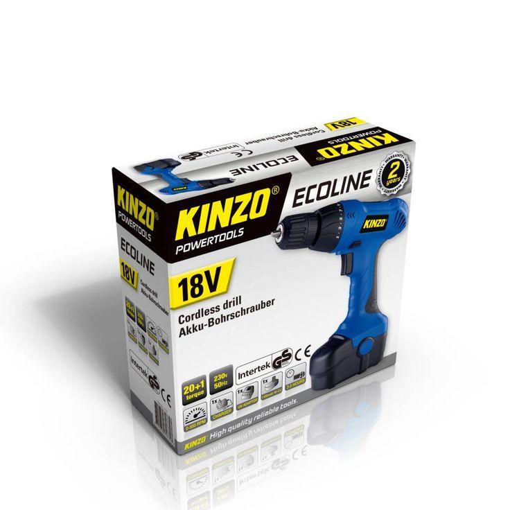 Kinzo Ecoline Li-ion accuboormachine 18V #kinzo #gereedschap #accuboormachine #accuboor18V