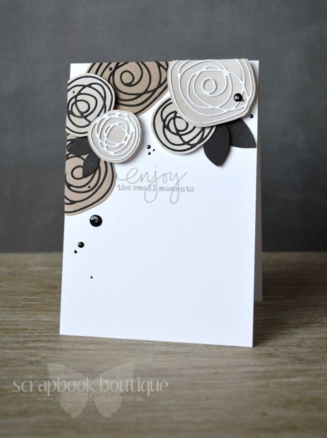 Lostinpaper - Scribble Flowers Enjoy card (video)