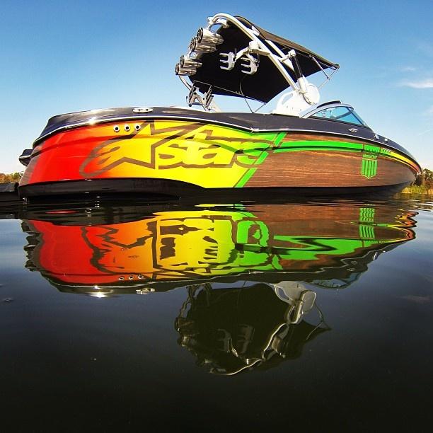 Josh Palma's XSTAR #xstar #boats #mastercraft #sirlinwraps #mastercraftwraps #palma #wakeboarding