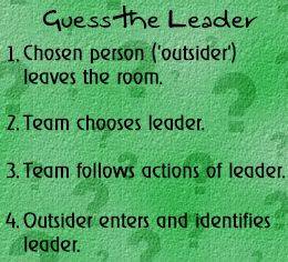 This activity would be good to build and focus on leadership. As Therapeutic Recreation majors, it is important to have leadership skills and this is a fun and easy way to incorporate leadership into a game. It would be fun to play even just as an ice breaker.