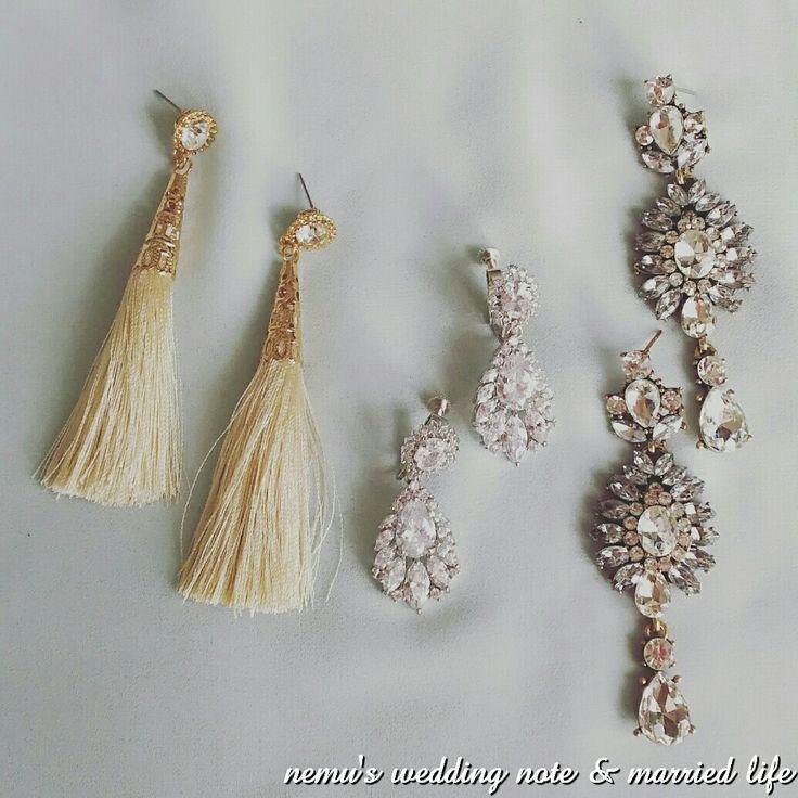 ブライダルアクセサリー ビジューアクセサリー イヤリング ピアス wedding accessories