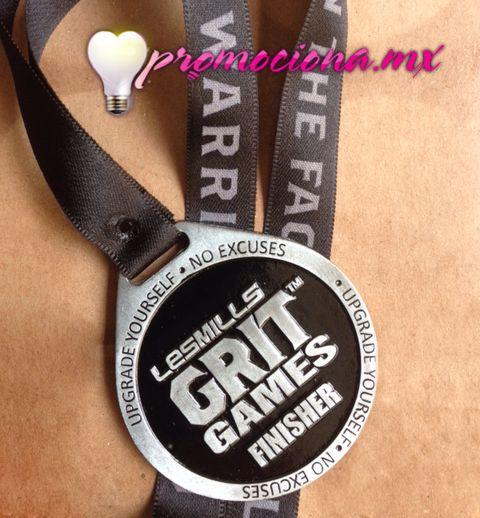 Medalla básica pintada 1 color, listón impreso 1 tinta. #medalla #carrera #promocionales  http://www.promociona.mx/index.php/medalla-basica.html