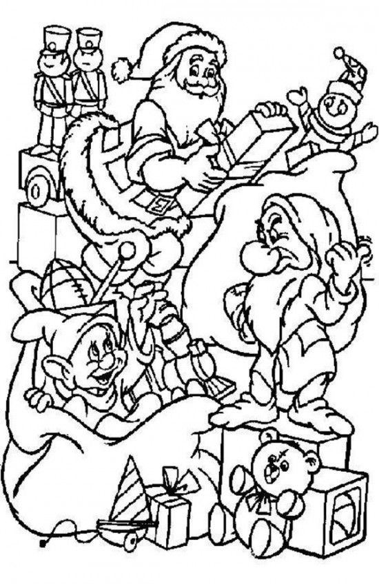 Best Free Disney Christmas Coloring Pages For Kids