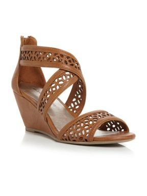 Madden Girl Hippie Mg lazer cut low wedge sandals Tan - House of Fraser