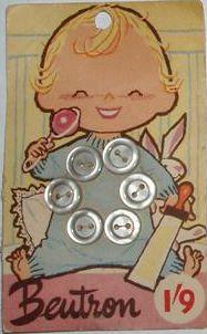 Baby button card by mazcrazyhaberdasher, via Flickr