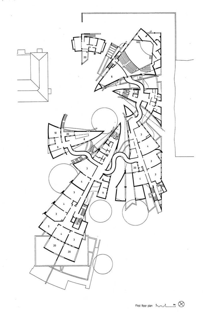 852 best architectural drawings models images on pinterest heinz galinski schule berlin by zvi hecker