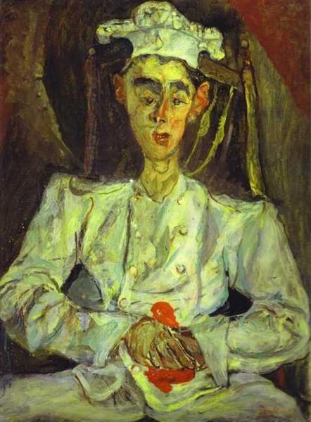 Pastelero con pañuelo rojo, 1922-1923 - Chaim Soutine