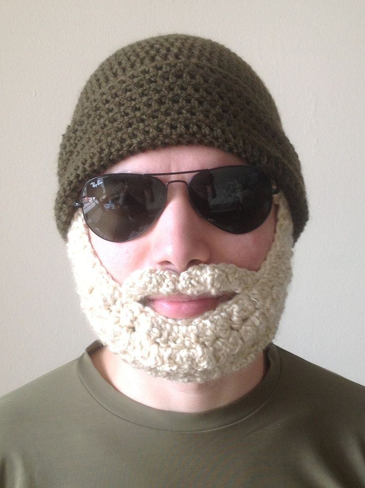 16 Best Beard Hats Images On Pinterest Crochet Hats Crocheted