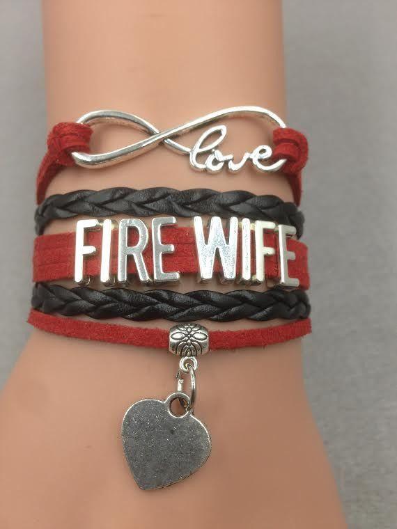 Fire Fighter Wife FREE Infinity Bracelet - One BRACELET PER ORDER, No Multiples