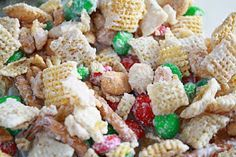 Chex Mix Christmas Crack Recipe    4 1/2 cups Rice Chex   4 1/2 cups Corn Chex   2 cups pretzel sticks   2 cups peanuts   1- 12 oz. bag o...