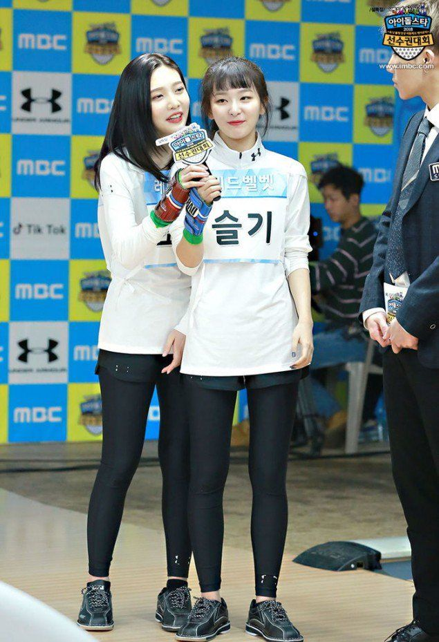Various Idol Stars Strike Hot Poses During Idol Star Athletics Championship Bowling Competition Red Velvet Seulgi Red Velvet Velvet Fashion