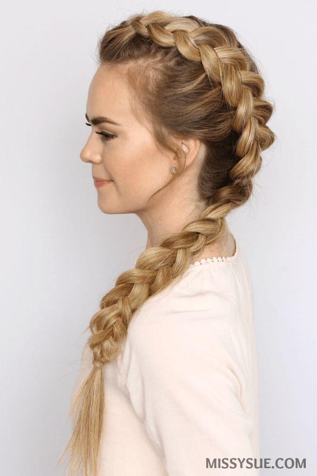 Dutch Mohawk Braid Hairstyles Heatless Hairstyles