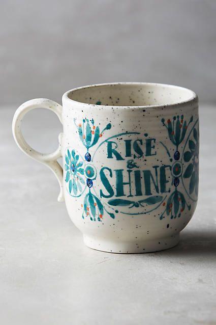 Anthropologie Sweetly Stated Mug