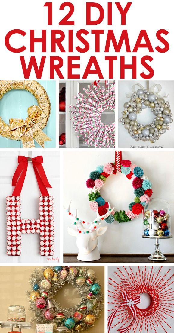 12 DIY Christmas wreaths!