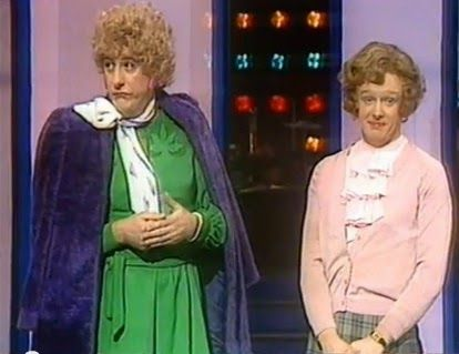 Dustin Gee and Les Dennis as Vera and Mavis from Coronation Street.
