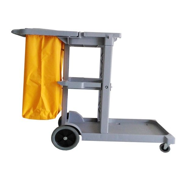 Janitor Cart Grey.  - Type:308KL-JCAB - Color:Grey Trolley, yellow Bag - Product size :118x48x96cm - Harga per Unit.  http://alatcleaning123.com/janitorial-trolley/1636-janitor-cart-grey.html  #janitorcart #trolley #alatcleaning