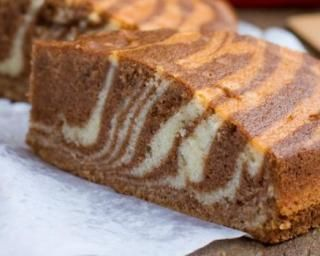 Gâteau zébré à la cannelle