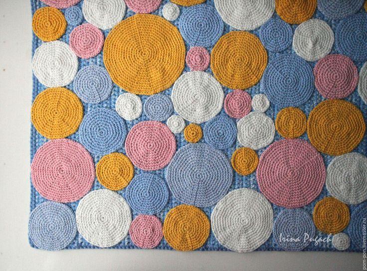 Купить Зефирки ковер вязаный ручная работа купить - комбинированный, вязаные ковры, купить ковер