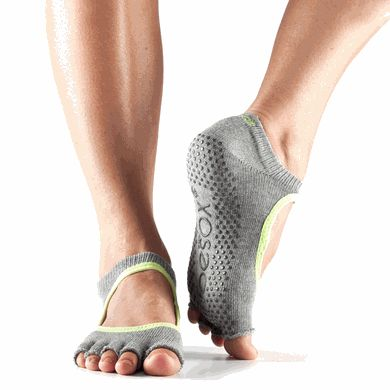 ToeSox Bella - Half Toe Grip Socks gently separate toes while still allowing them to flex and point.