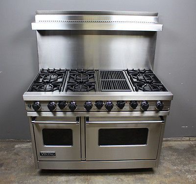 Viking-48-Range-VDSC485-6QSS-Stove-Professional-6-Burner-BBQ-Grill