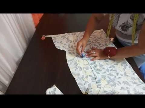 Как сшить летнее платье из льна без выкройки - YouTube
