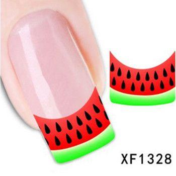 Купить товар1 шт. ногтей вода наклейки ногти обертывания фольга польские надписи временные татуировки водяной знак + бесплатная доставка ( XF1328 ) в категории Наклейки и переводные картинкина AliExpress.