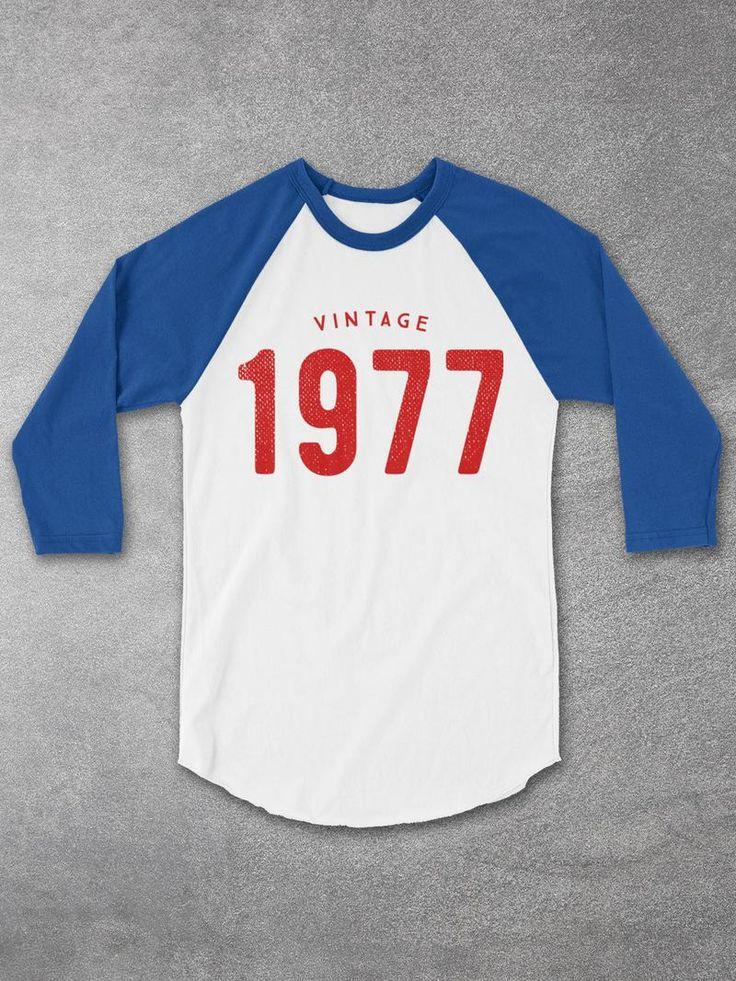 40th Birthday Ideas - Vintage 1977 Baseball Tee for Men and Women - 40th Birthday Gifts - 40th birthday gifts for women - Cool Graphic Tees