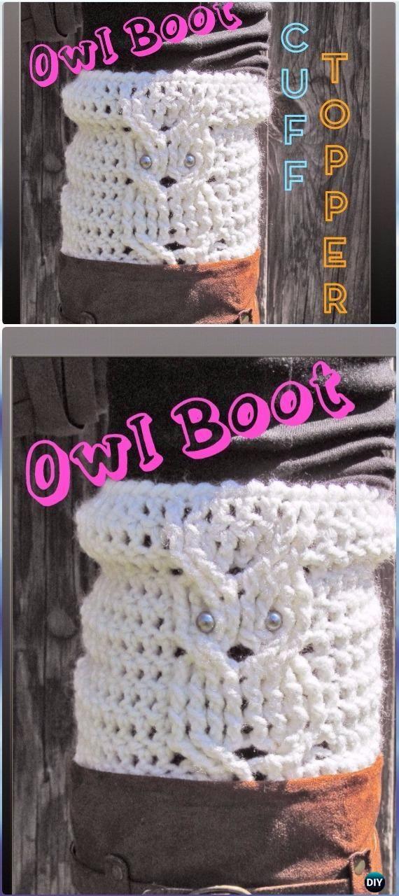 Crochet Owl Boot Cuff Topper Free Pattern - Crochet Boot Cuffs Free Patterns