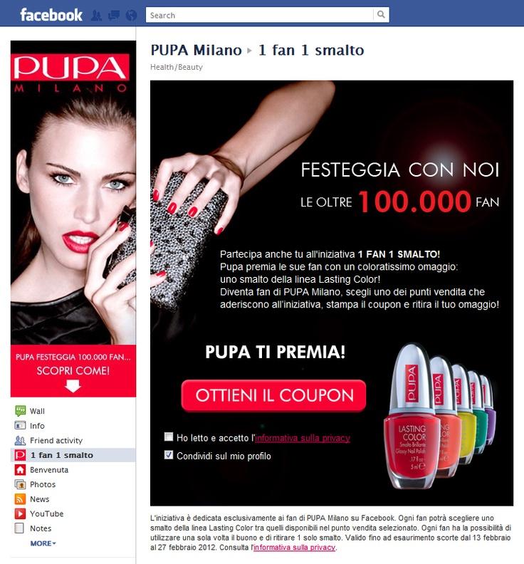 Tab Facebook: PUPA Milano