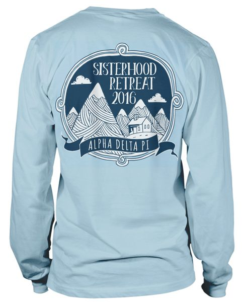 Alpha Delta Pi Mountain T Shirt. Love This Style!