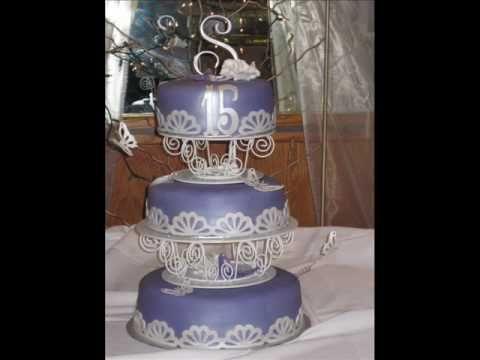 Cricut Cake Decorations - Fondant Cake Quinceañera (Sweet 15 Cake)