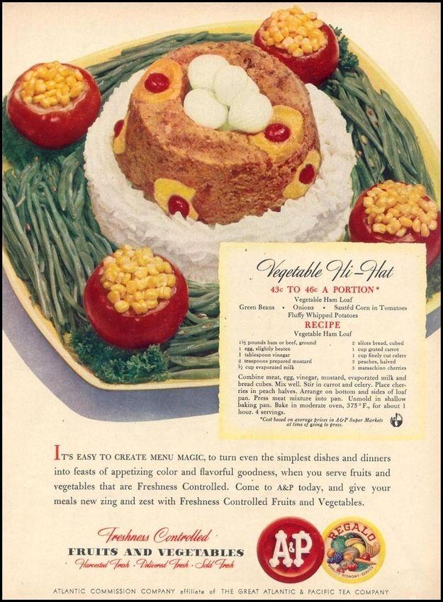 Vegetable Hi-Hat | 10 Regrettable Retro Food Recipes