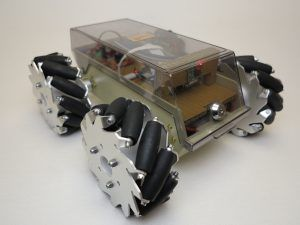 This is my Raspberry Pi robot with mecanum wheels.